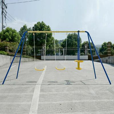 Metal A-Frame Swing Play Outdoor