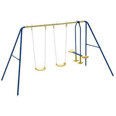 Metal Four Swing Set Play Outdoor