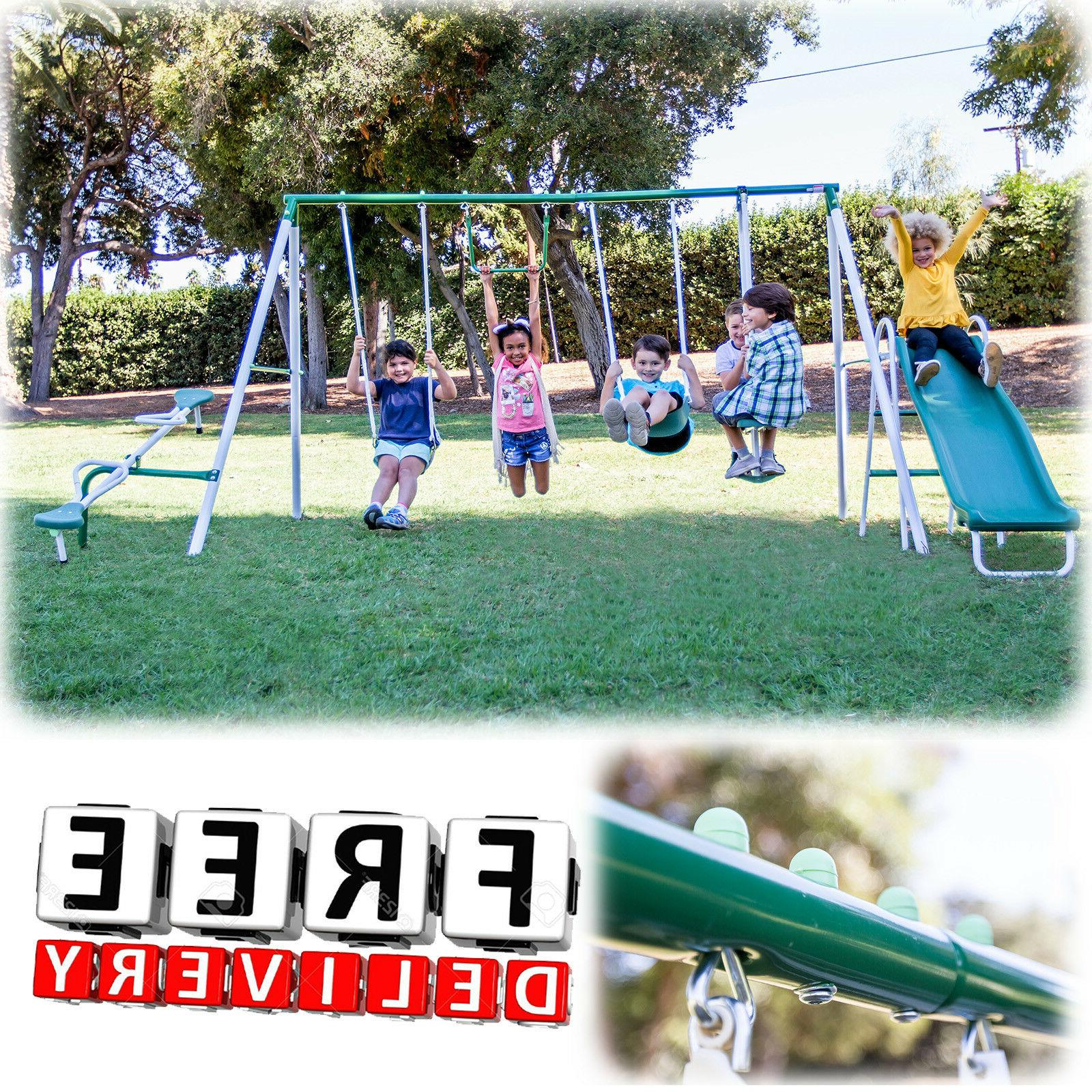 Metal Slide Playground Child