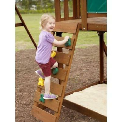 New Backyard Swing Cedar Playset