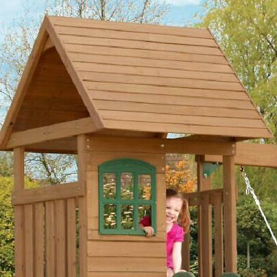 New Backyard Swing Cedar Playset Kids