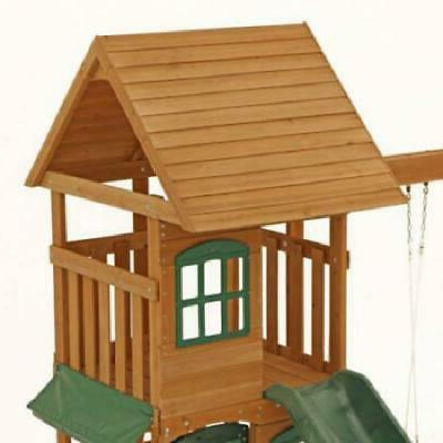 New Swing Cedar Outdoor Playground Playset