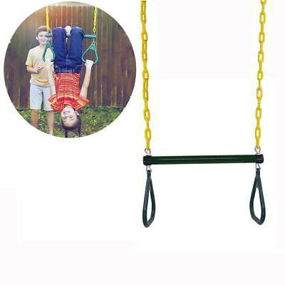 18 trapeze swing bar with green rings