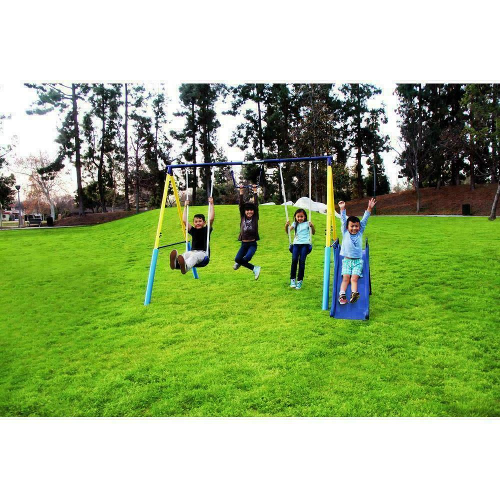 Outdoor Swing Playground Metal Play Backyard