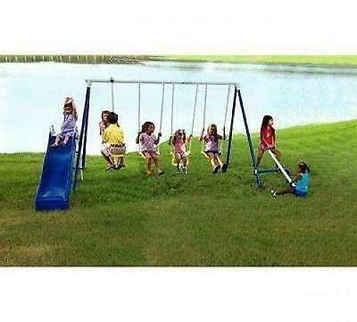 Swing Outdoor Slide Swingset