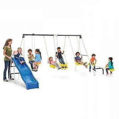 Swing Set Playground Outdoor Play Swingset Fun