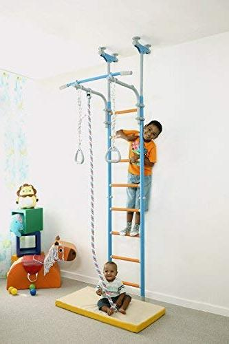Kids Play Set for Floor & Ceiling / Sport Set with Rings, Rope Home, School, WallBarz Family