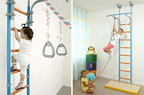 Kids for Floor & / Sport Set Equipment: Climber, Gymnastic Swing Rings, Home, School, / WallBarz Family