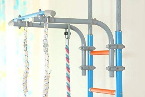 Kids Playground for Floor / Indoor Training Gym Sport with Equipment: Climber, Gymnastic Rings, Climbing Home, WallBarz