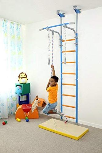 Kids Play for Floor Ceiling / Indoor Training Sport with Rings, Climbing Rope Home, WallBarz