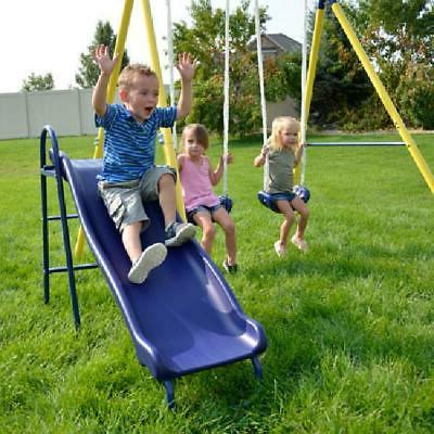 Metal Slide Outdoor Backyard Playset Fun NEW