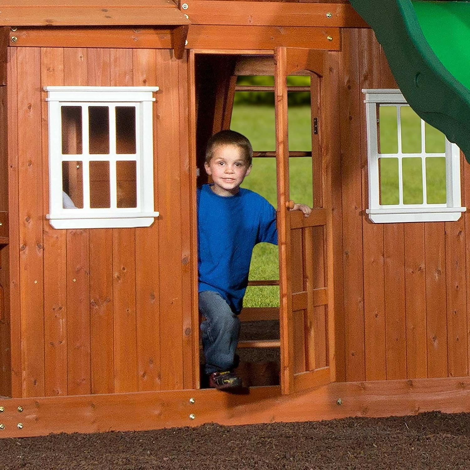 Backyard Shenandoah Cedar Wood Set Xmas Kids Fun