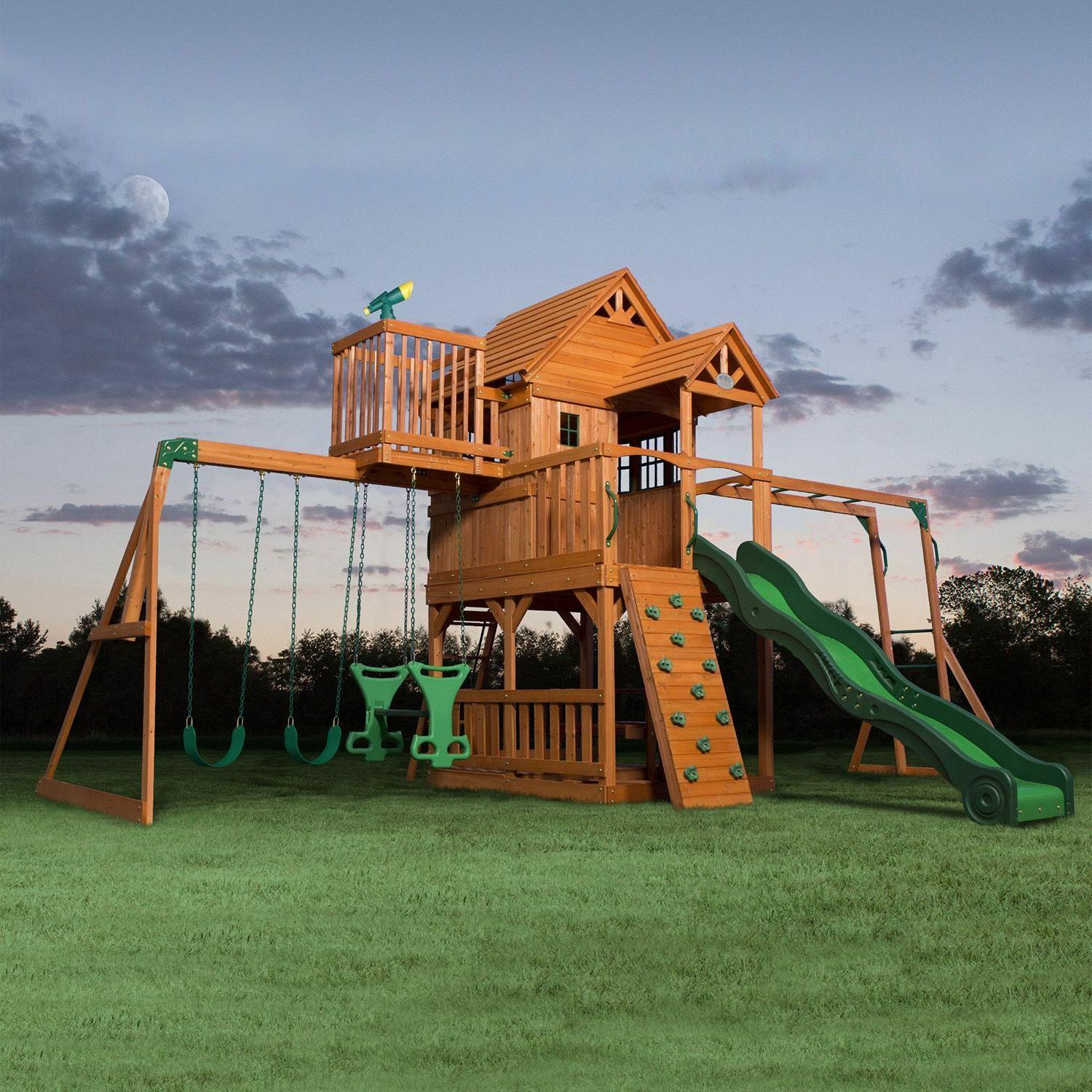 skyfort ii cedar wood swing