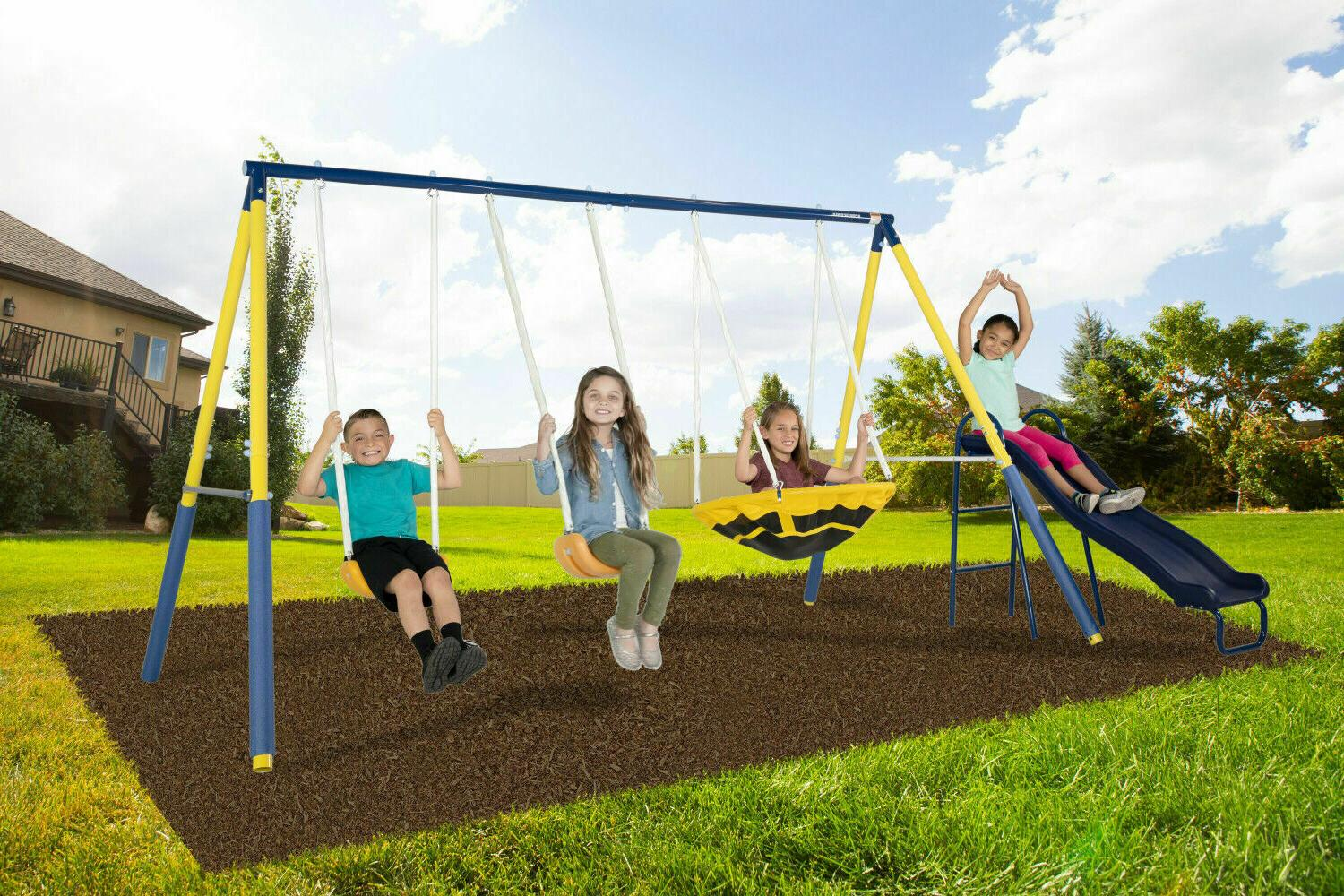 Sportspower Swing with Swings, Saucer Swing and Slide