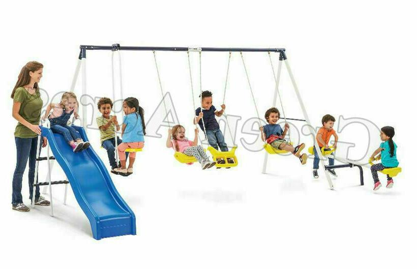 Swing Set Swingset Outdoor Play Kids Backyard