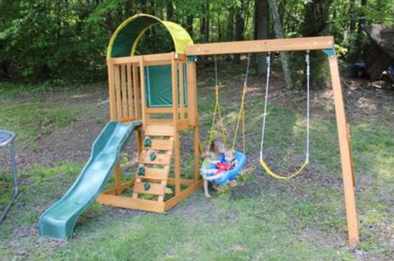 Swing Outdoor Cedar Premium Backyard Wooden