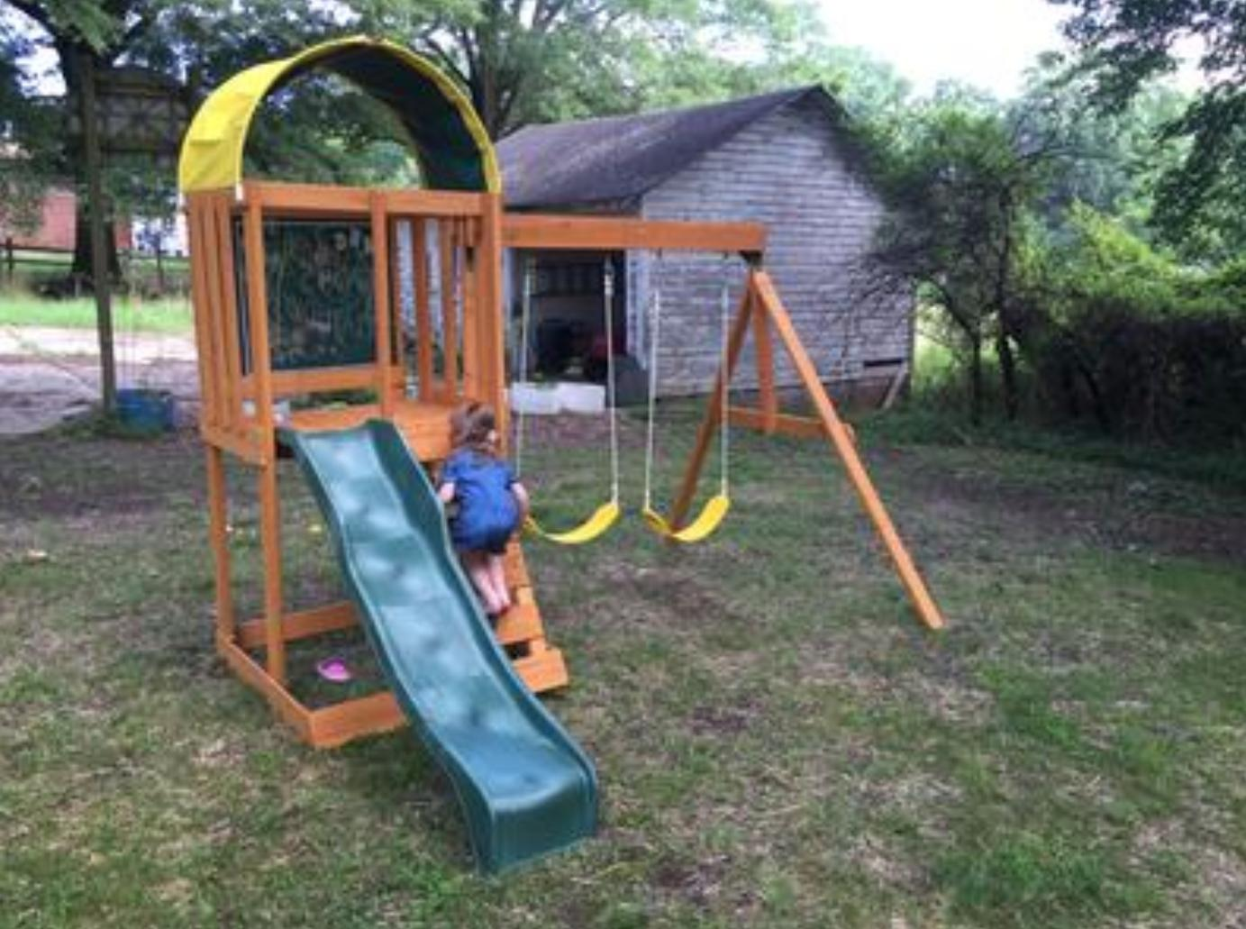 Swing Set PLAYGROUND Cedar Summit Premium Backyard Wooden Kids