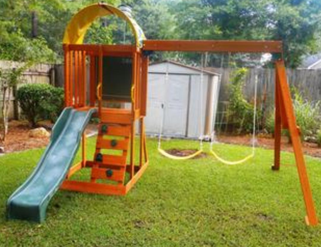 swing set playground outdoor cedar summit premium