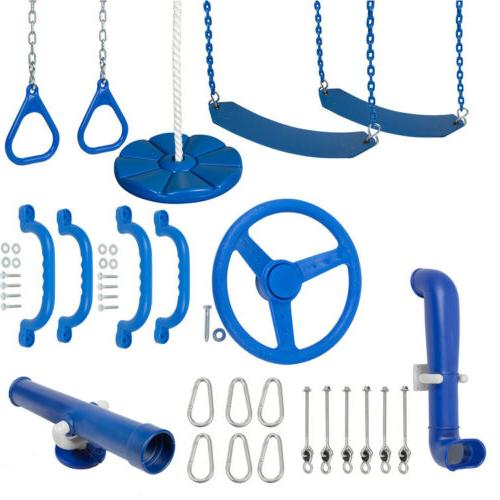 swing set stuff ultimate kit blue playground