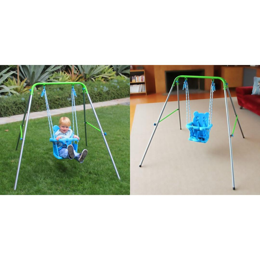 SWING TODDLER SET Seat Bucket Play Kids Foldable