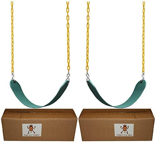 """Jungle Kingdom Pack Duty 66"""" Chain Coated - Swing Set with Snap"""