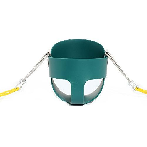 Take Away Swing Yellow Coated Swing Fully Assembled Swing Accessories, Green