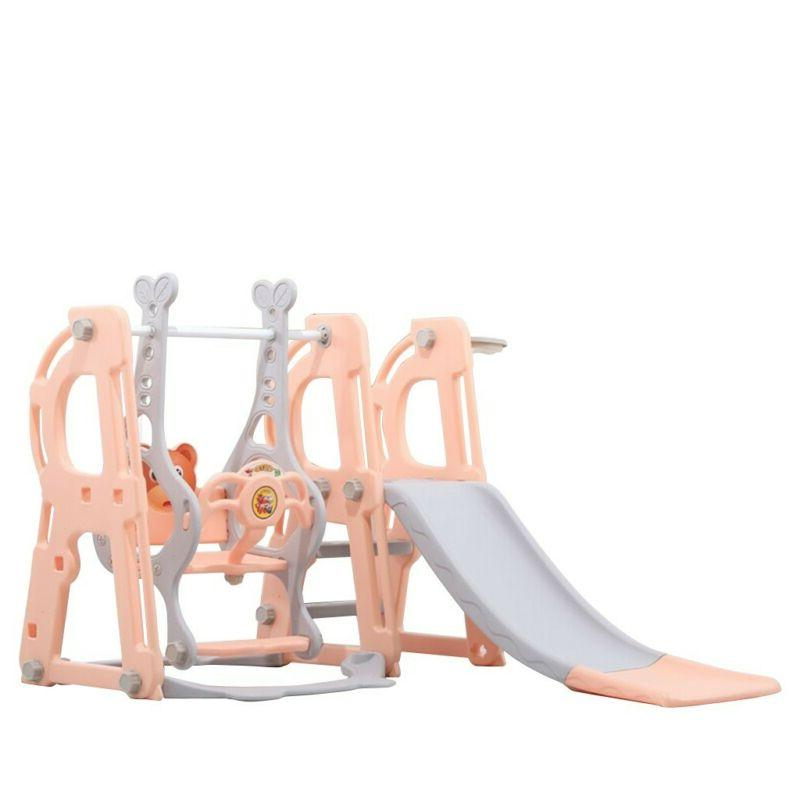 Toddler Climber And Swing Set 3 in 1 Climber Sliding Play Se