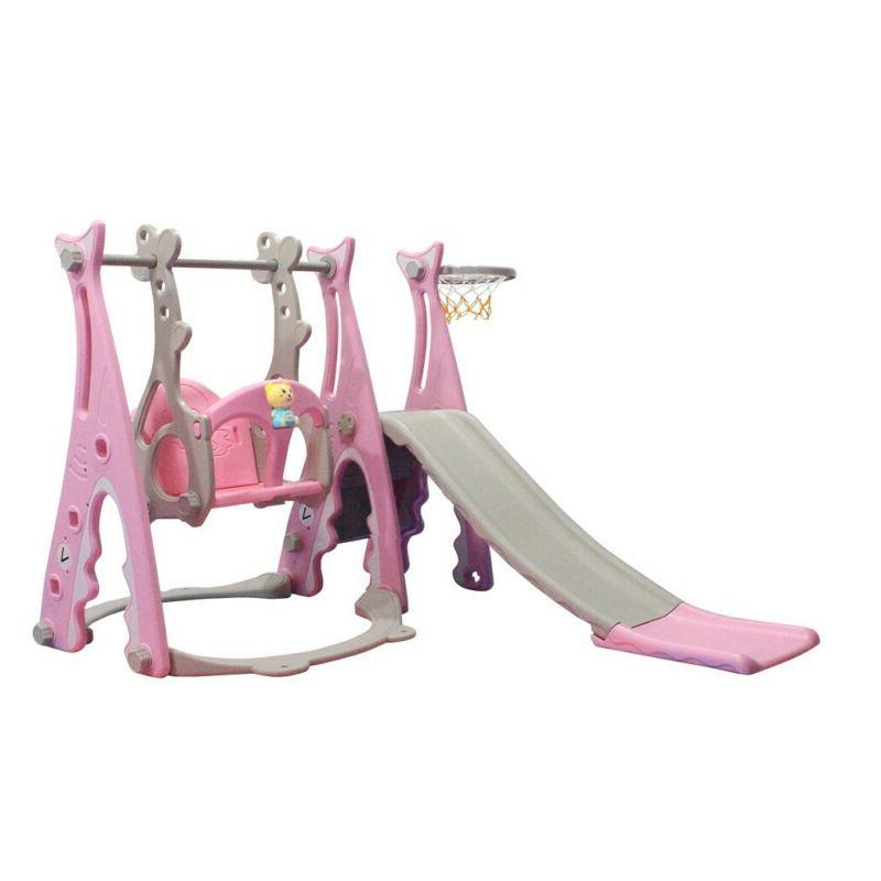 Toddler Set 3 In Climber Sets w/Basketball Hoop
