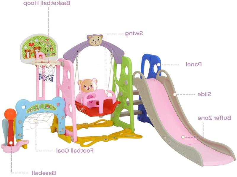 Toddler Slide Swing Set Kids Hoop