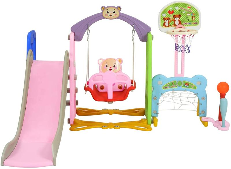 Toddler Slide Playground W/ Hoop