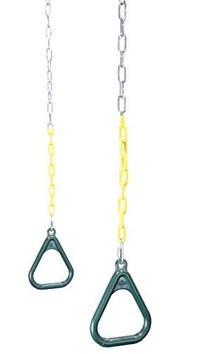 Trapeze Chains - Plastic Coated Chains Locking Carabiners