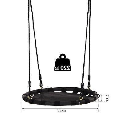 HOMCOM Tree Swing Hammock Chair Attaches to Tree Set