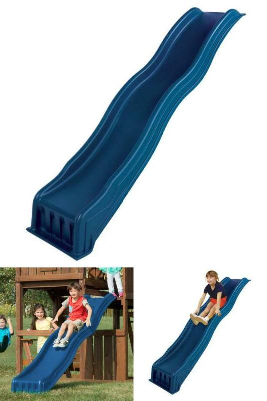 wave slide blue cool uv resistant playground