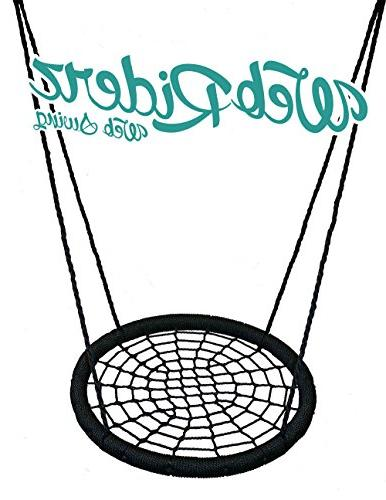 M Enterprises Web Riderz Outdoor Swing N' Spin- Safety rated to lb, 39 inch hanging Ready hang and as