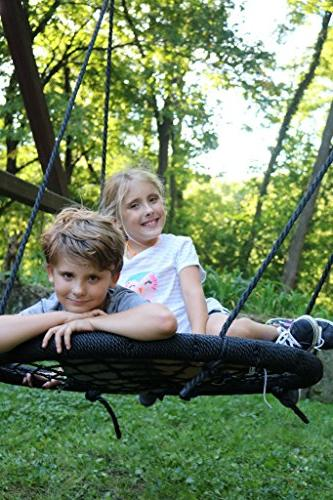 M M Sales Enterprises Web Outdoor Swing N' rated to 39 inch diameter, hang enjoy as a family