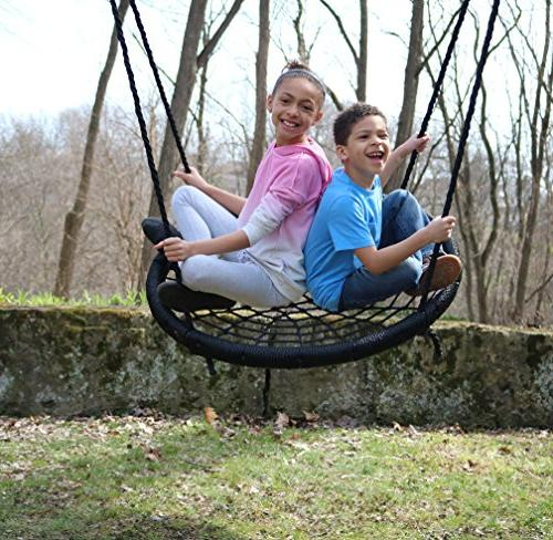 M Enterprises Web Riderz Outdoor Swing N' Spin- Safety rated to 39 inch hanging hang as a