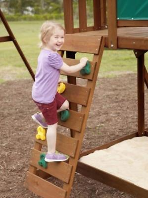 Big Cedar Swing Set Playground Slide Playset