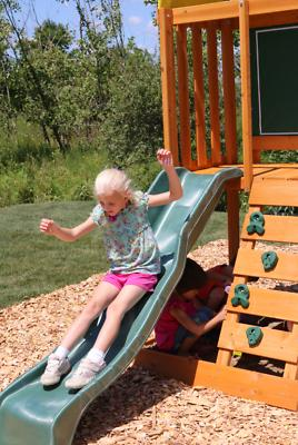 Wooden Swing Play Set Outdoor Playing