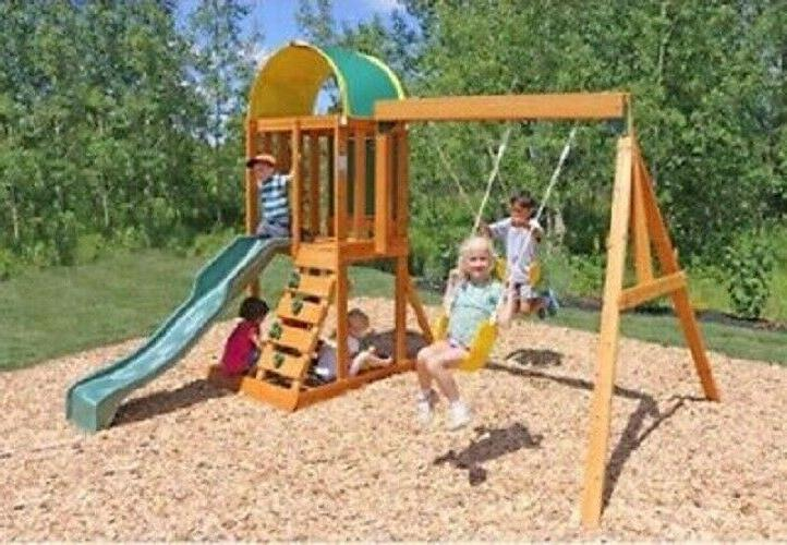Wooden Playground Outdoor Children Play Sandbox