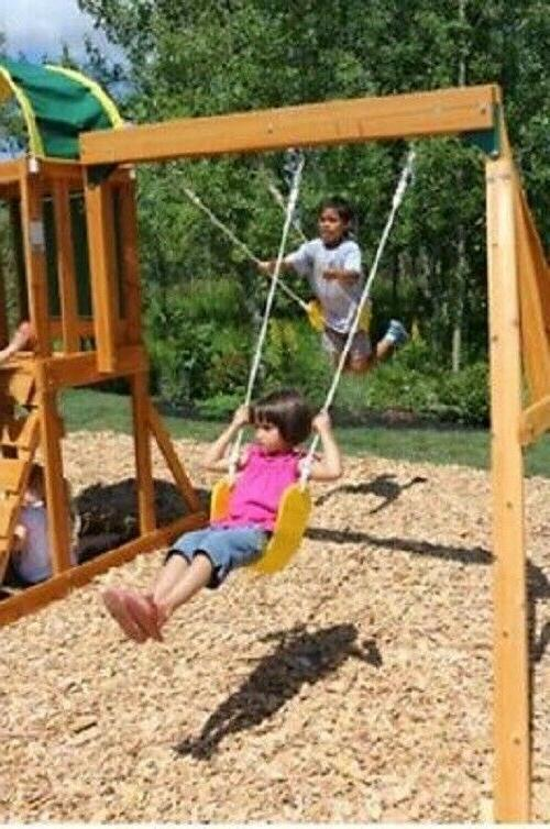 Wooden Swing Set Playground Children