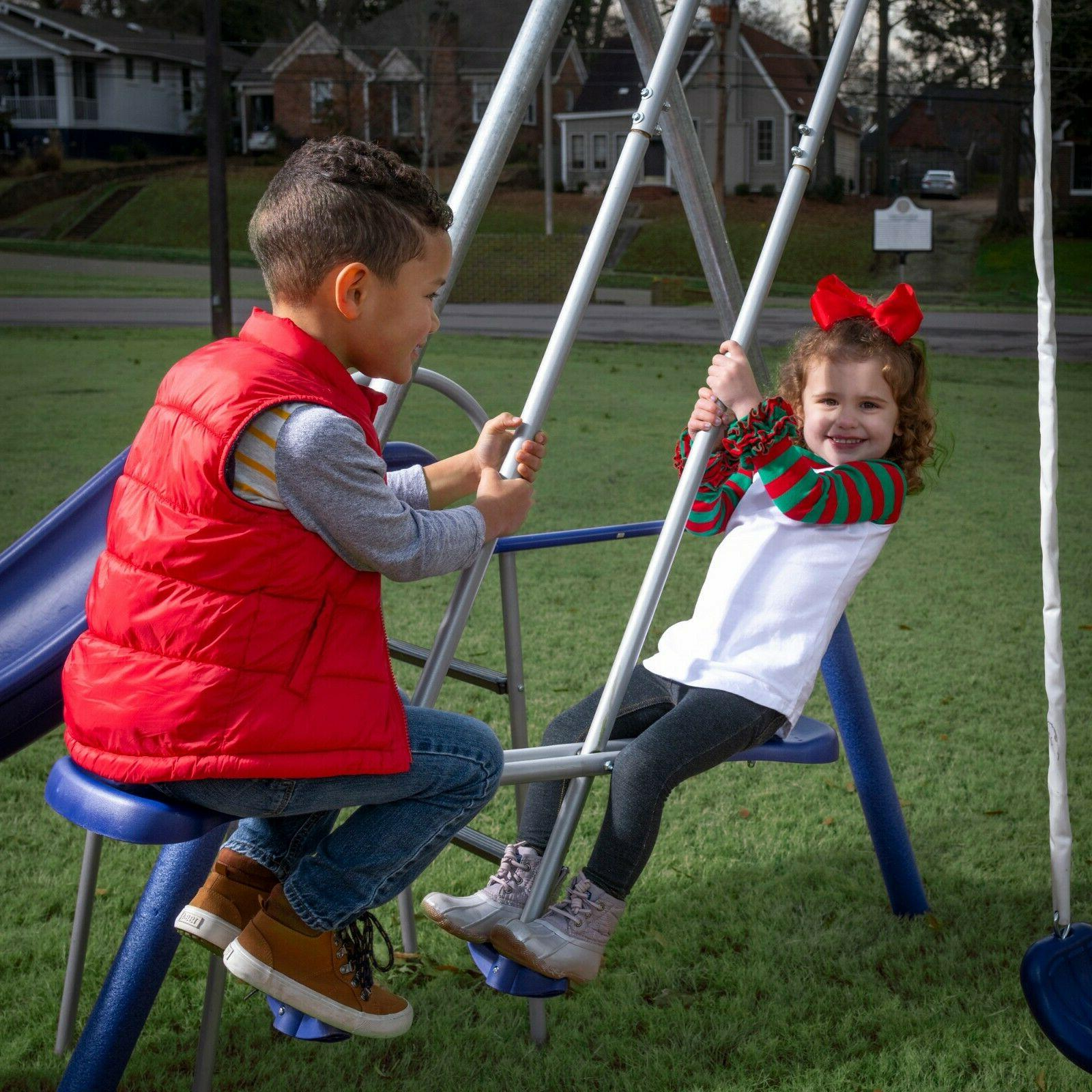 XDP Recreation All-Mighty Galvanized Metal Swing Set
