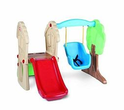 Little Kids Climber Slide and Swing Set Play Fun Imagination