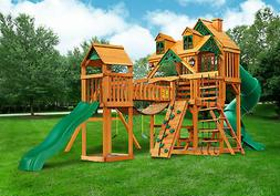 Gorilla Playsets Malibu Treasure Trove I Swing Set w/ Timber