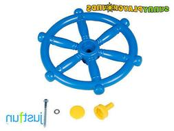 MARINE STEERING WHEEL BLUE Swing Seat Set Toy Accessory Just
