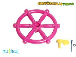 KID'S MARINE STEERING WHEELPINK- Outdoor and Indoor Playgrou