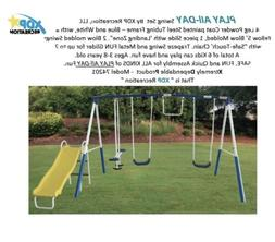 XDP 2 Swing Play Set Slide SeeSaw Trapeze Glider NEW 74201 C