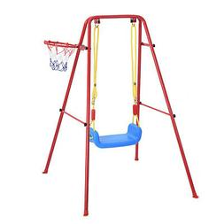 METAL PLAYGROUND SWING SET Outdoor Slide Kids Children Backy