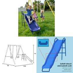 Outdoor Metal Slide and Swing Set 3 to 7 Years, up to 3 Chil