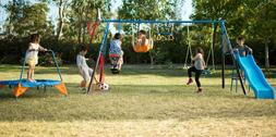metal swing set soccer basket ball sports