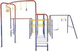 Activplay Modular Jungle Gym With Swing Set, Monkey Bars, Ha